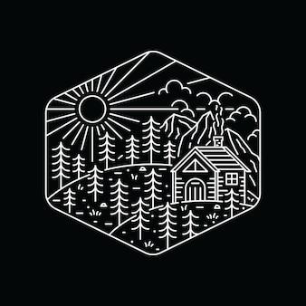 Отдых на природе туризм восхождение природа приключения графическая иллюстрация art t-shirt