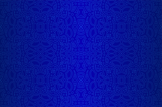 Art with blue linear seamless abstract pattern