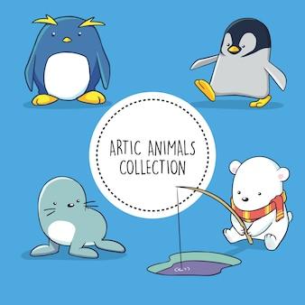 북극 동물 모음