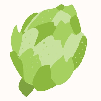 Artichoke is a natural vegetable, hand-drawn vector illustration isolated on a white background.