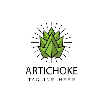 Artichoke logo template design vector