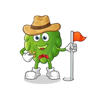 Artichoke scout . cartoon character