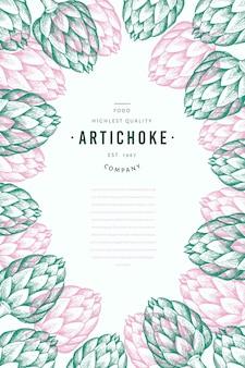 Artichoke vegetable design template.