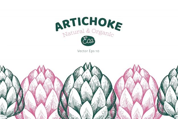 Artichoke vegetable template.
