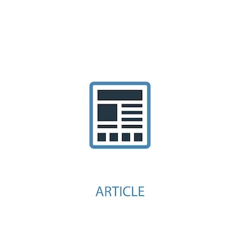 Article concept 2 colored icon. simple blue element illustration. article concept symbol design. can be used for web and mobile ui/ux