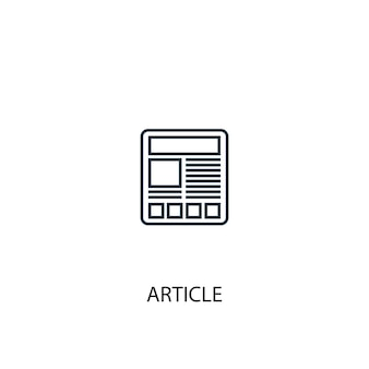 Article concept line icon. simple element illustration. article concept outline symbol design. can be used for web and mobile ui/ux
