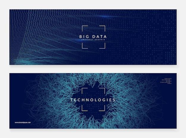 Искусственный интеллект. абстрактный фон. цифровые технологии, глубокое обучение и концепция больших данных. технический визуал для отраслевого шаблона. векторный фон искусственного интеллекта.