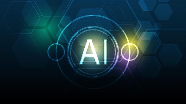 Искусственный интеллект абстрактный фон технологии привет-tech концепция инноваций фоновой иллюстрации