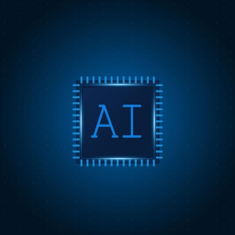 Artificial intelligence ai chipset on circuit board futuristic
