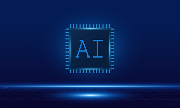 Artificial intelligence ,ai chipset on circuit board,