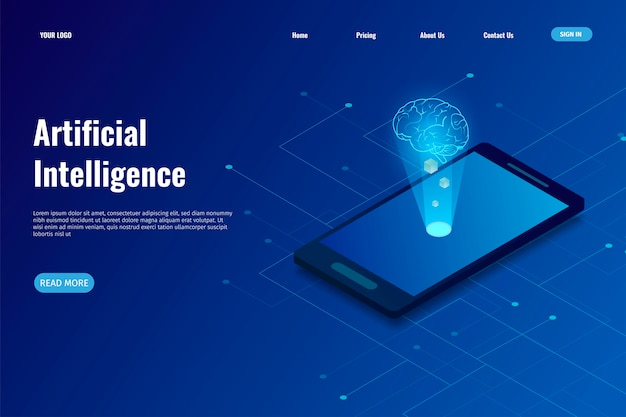 Artificial intelligence (ai) landing page