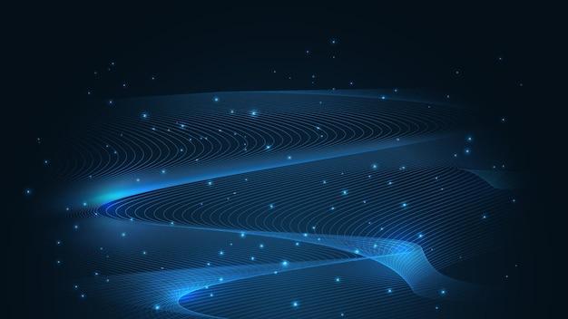 Искусственный интеллект, фон технологии ai. понятие больших данных. привет-тек концепция коммуникации инновации абстрактный фон векторные иллюстрации