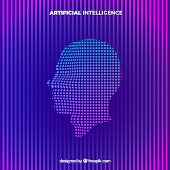 Artificial intelligence background in abstract style