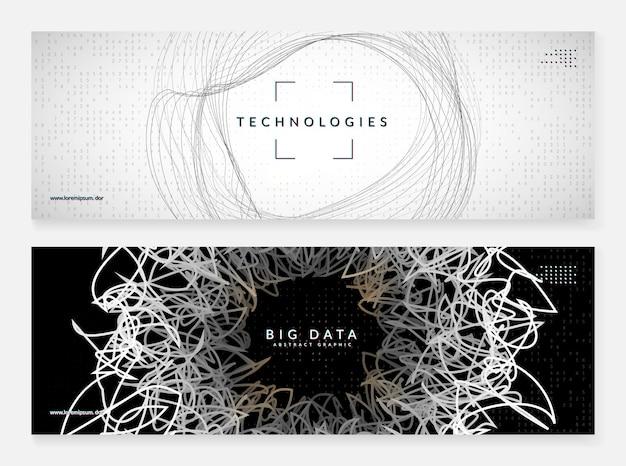 Фон искусственного интеллекта. цифровые технологии, глубокое обучение и концепция больших данных. абстрактный технический визуальный элемент для вычислительного шаблона. промышленный фон искусственного интеллекта.