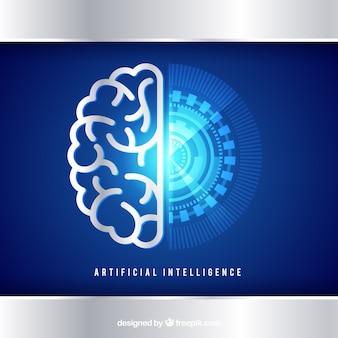 Фон искусственного интеллекта в абстрактном стиле