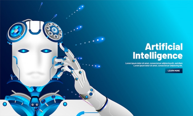 Artificial intelligence background.