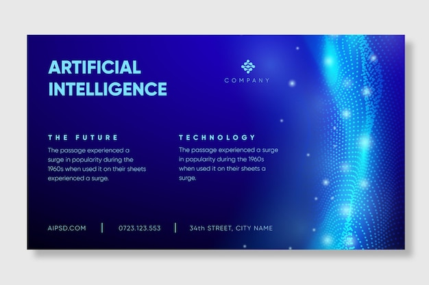Artificial intelligence banner template