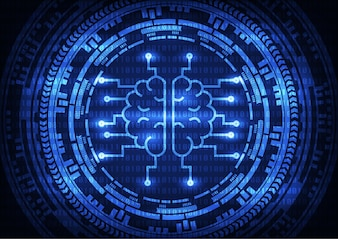 Artificial intelligence brain abtract background.