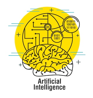Artificial intelligence brain world code binary