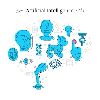 Artificial intelligence concept