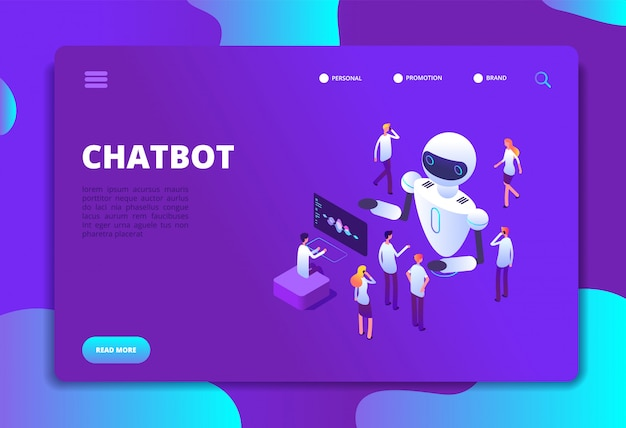Artificial intelligence conversation future technology landing page