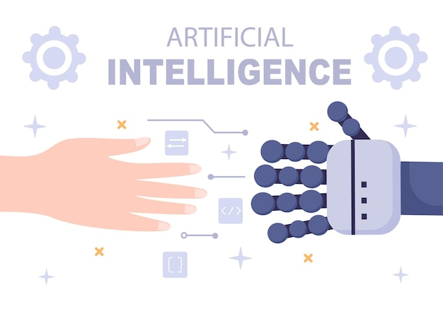 Artificial intelligence digital brain technology and engineering concept with programmer data or systems that can be set up in a scientific context. vector illustration