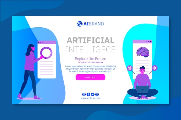 Artificial intelligence explore the future banner