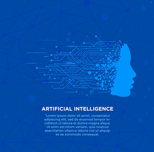 Artificial intelligence high technology background