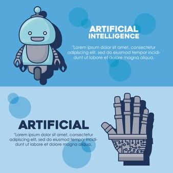 Искусственный интеллект инфографический дизайн