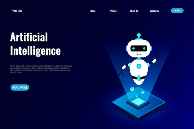 Artificial intelligence  for landing page