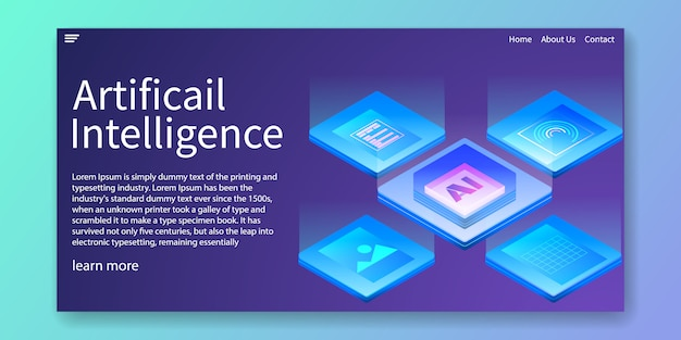 Artificial intelligence landing page