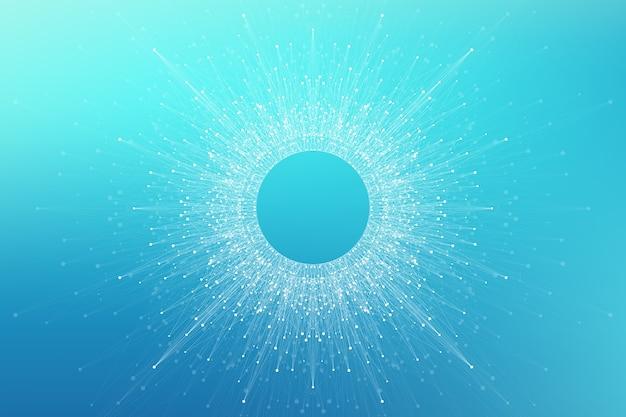Логотип искусственного интеллекта. концепция искусственного интеллекта и машинного обучения.