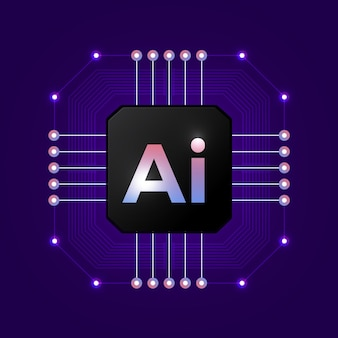 Artificial intelligence logo. artificial intelligence and machine learning concept