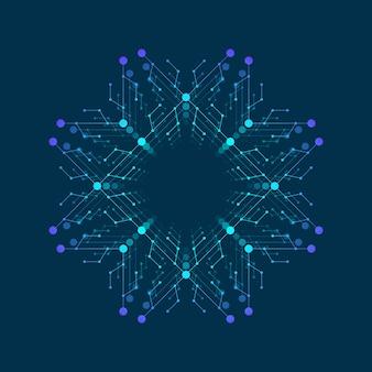 인공 지능 로고, 아이콘입니다. 벡터 기호 ai입니다. 딥 러닝 및 미래 기술 개념 설계.