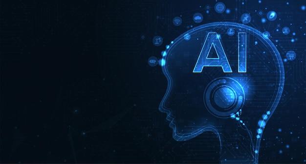 미래 기술 작품을 위한 인공 지능 머신 러닝 ai 데이터 딥 러닝