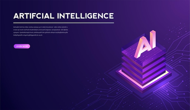 Artificial intelligence machine learning ai data deep learning for future technology artwork