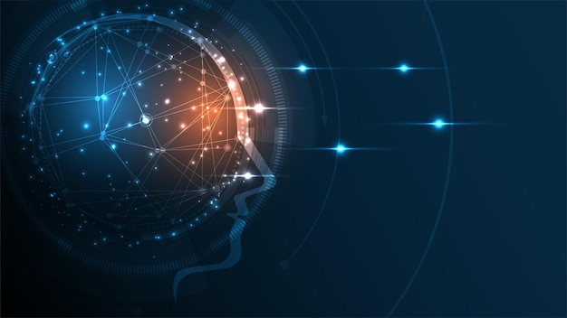 Artificial intelligence technology background hi-tech innovation abstract background