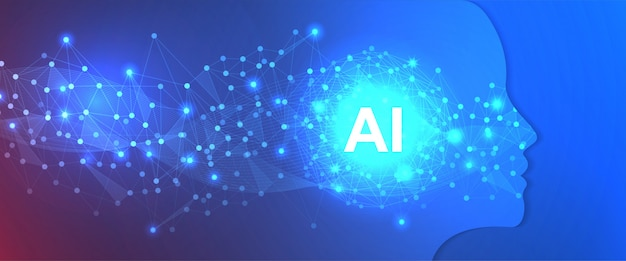Artificial intelligence technology background template