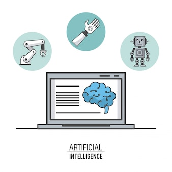 Artificial intelligence technology illustration