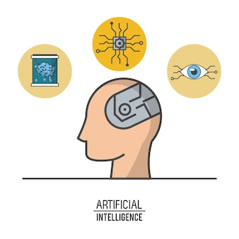 Иллюстрация технологии искусственного интеллекта