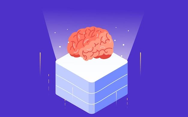 인공 지능 기술 의료 일러스트레이션 온라인 진단 상담 의사 포스터