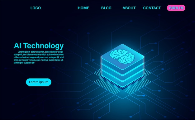 Artificial intelligence technology web template