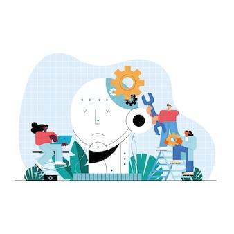 Значки персонажей пользователей искусственного интеллекта