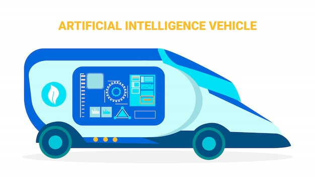 Artificial intelligence vehicle banner template