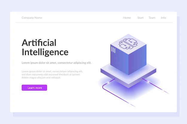 Artificial intelligence web template