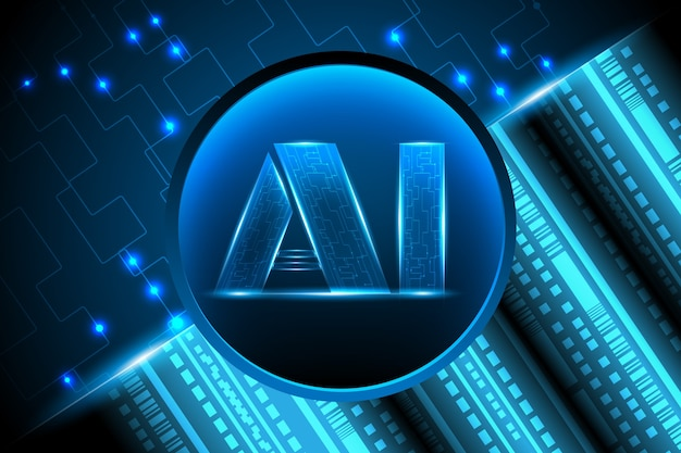 Artificial intelligence with digital network concept