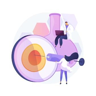 Illustrazione di vettore di concetto astratto di riproduzione artificiale. riproduzione, servizio di fecondazione in vitro, inseminazione artificiale, aiuto per l'infertilità, metafora astratta della tecnologia riproduttiva.
