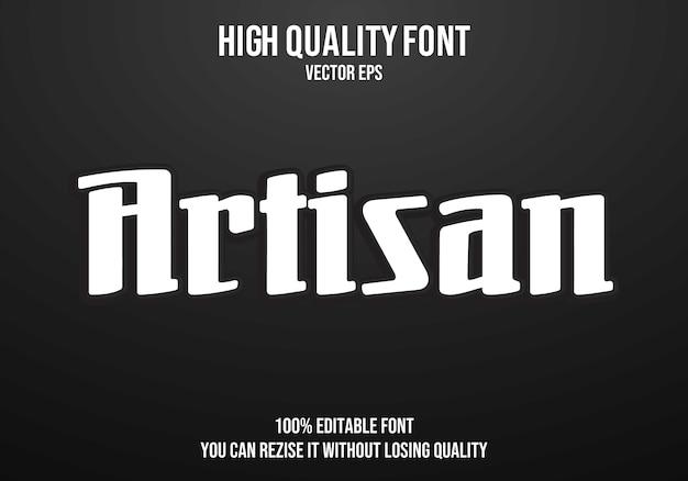 Artisan editable text effect