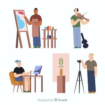 직장 평면 디자인 아티스트