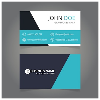 Artist blue and white business card